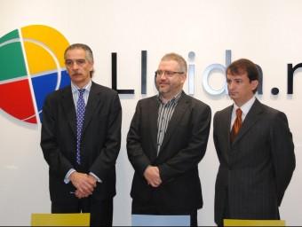 L'equip directiu de l'operadora Lleida.net.  J.TORT