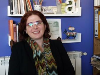 Àngels Gregori és la directora d'aquesta proposta poètica d'Oliva. ESCORCOLL