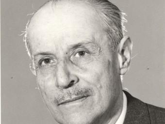Josep Maria Corredor en el seu retrat més difós, dels anys setanta ARXIU