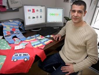 David Buenavida aposta per la roba ètica, sostenible i orgànica per a nens i nenes.  LLUÍS SERRAT