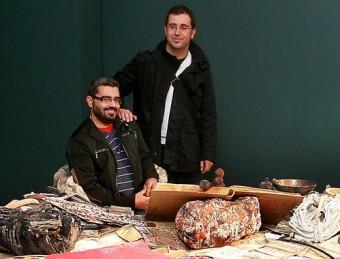 Jordi Mitjà, dret a l'esquerra en una imatge de quan va comissariar 'Primera rèplica', és un dels participants M.LL