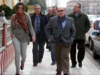 Consellers de CiU , amb Josep Valls, a la dreta. ACN