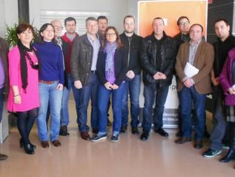 Imatge de l'executiva de la coalició Compromís per Oliva. EL PUNT AVUI