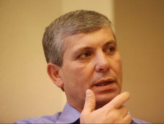 El ministre d'Indústria d'Israel, durant l'entrevista.  JUANMA RAMOS