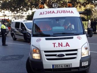 Ambulància del servei TNA. J. CUÉLLAR