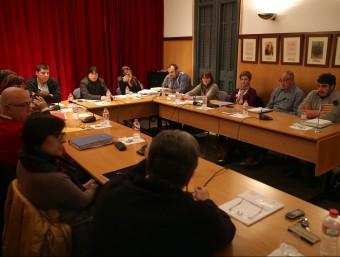 """El ple de Cassà de la Selva va donar suport a la moció del moviment """"Diem Prou"""" a favor de la insubmissió fiscal JOAN CASTRO / ICONNA"""