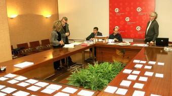 La taula de votació en les darreres eleccions de la Cambra de Girona. M.LLADÓ