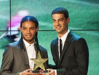 Gerard López va entregar el premi del millor gol català a Baruc el març passat JOSEP LOSADA