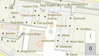 L'interior del centre comercial Glòries, segons Google Maps EPA