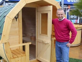 Una de les saunes que Welltech 94 comercialitza tant de venda com de lloguer a empreses i particulars.  QUIM PUIG