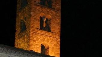 Representació del Divino a la plaça de l'Església.  AJ. SANT VICENÇ