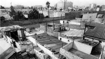 Barraques de la ciutat de Barcelona a finals dels cinquanta.  ARXIU