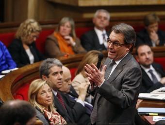 el president Mas en una intervenció al Parlament de Catalunya.  ARXIU /ORIOL DURAN