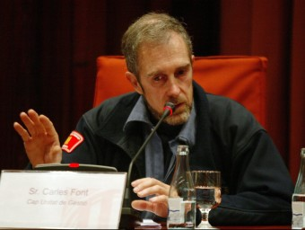 Carles Font, durant una compareixença al Parlament. ARXIU