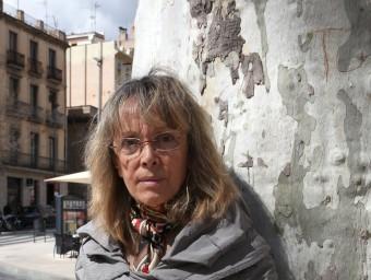 M. Àngels Bosch, la setmana passada a la Rambla de Figueres JOAN SABATER