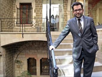 El secretari d'Afers Exteriors, R. Albinyana, explica el potencial de Catalunya al món.  ARXIU /J. RAMOS