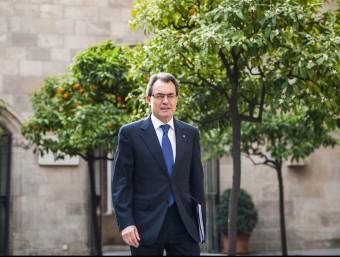 El president de la Generalitat, Artur Mas, al Palau de la Generalitat JOSEP LOSADA