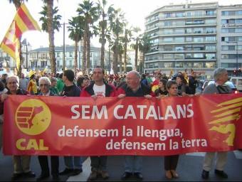 Manifestació de cloenda del Correllengua a Perpinyà, en una edició anterior A.R