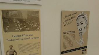 Alguns dels cartells exposats a la Universitat de Vic XAVIER FREIXA