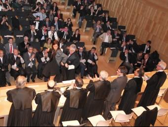 El Col·legi d'Advocats de Girona celebra la festa patronal de Sant Raimon de Penyafort.  ARXIU