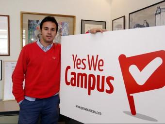 Yago Zarroca, creador del portal Yes We Campus que ofereix un feina on line pensada per a estudiants.  ORIOL DURAN
