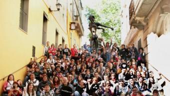 Els participants a la trobada d'instagramers ARXIU