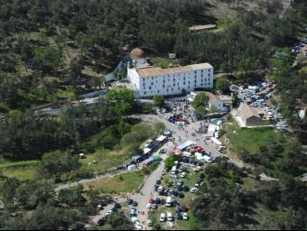 Vista aèria de la jornada facilitada per l'Ajuntament de les Alcubles. CEDIDA