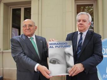 El president del grup Josep Maria Ventura i el director general, José Campos en la celebració del 70 aniversari.  ARXIU