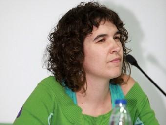 Júlia Palomer va prendre ahir possessió en el ple de Celrà d'ahir a la nit. JOAN SABATER