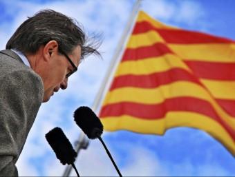 El president de la Generalitat, Artur Mas, el dissabte a Torrelavit EFE
