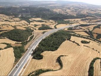 Imatge aèria de l'alta Anoia on l'empresa Minera del Río Alagón podria fer les prospeccions per buscar urani ACN