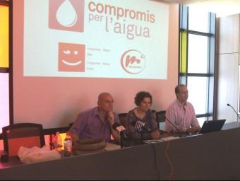 Conferència de premsa dels representants de Compromís per l'Aigua. EL PUNT AVUI