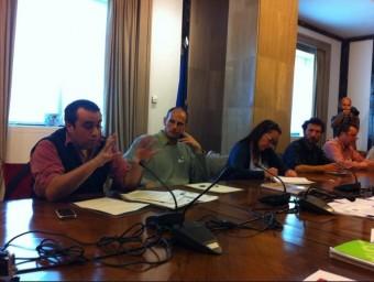 Un detall de la reunió que representants de les plataformes van fer al Congrés dels Diputats de Madrid. J.P.R