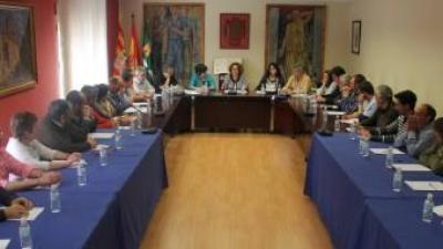 Regidors i alcaldes de la Franja es van reunir ahir al migdia, igual que van fer fa prop de trenta anys, a la sala de plens de l'Ajuntament de Mequinensa. D.M
