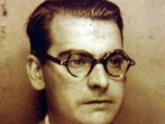 El mestre exiliat Josep Vilalta Pont (1904-1987), del qual s'exposen part dels documents, en un retrat de 1937 MUME