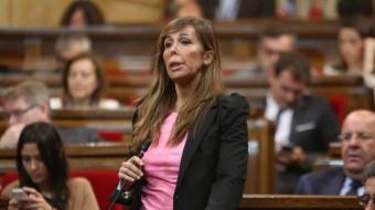 Alícia Sanchez-Camacho, durant una intervenció al Parlament. J.RAMOS
