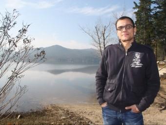 Eduard Payrà, alcalde de Darnius davant de l'embassament de la conca de la Muga i que a partir d'ara s'haurà d'anomenar, embassament de Darnius ACN