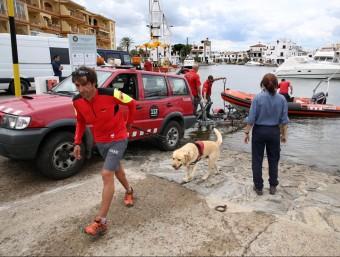 Els rastrejos van ser tant per mar com per terra, així com pel riu Muga JOAN CASTRO / ICONNA