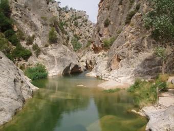 L'entorn de la Fontcalda té un gran valor geològic. EL PUNT AVUI