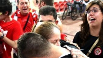 Acuña es va acomiadar dels aficionats enmig de llàgrimes JOAN CASTRO / ICONNA