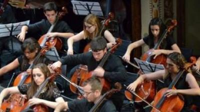 Corda de violoncels de l'Orquestra Simfònica de la Ribera. EL PUNT AVUI
