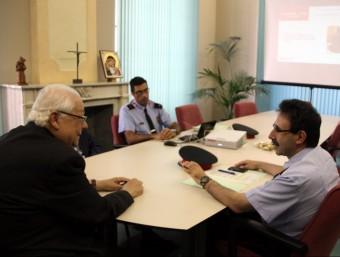 Padró, Belenguer i Pardo , durant la reunió de balanç del pla ACN
