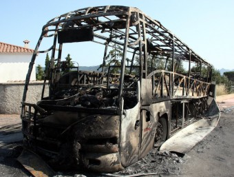 L'autobús incendiat ACN