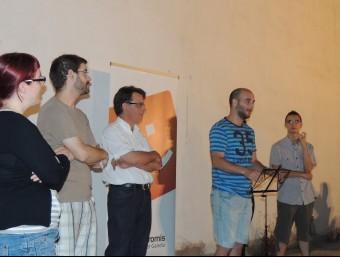Xavi Martínez s'adreça als assistents a l'acte de Ròtova. CEDIDA