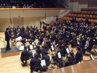 Actuació d ela banda Unió Musical Santa Cecília de Villar al palau. ESCORCOLL