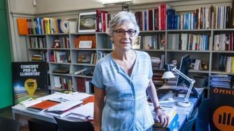 Muriel Casals, dijous al matí a la seu central d'Òmnium Cultural JOSEP LOSADA
