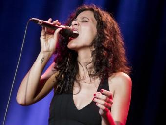 Paula Grande, durant una de les seves actuacions a Montreux NAH INU