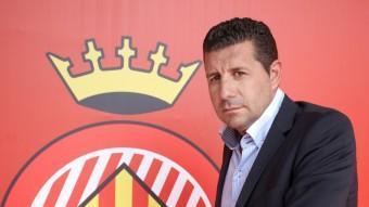 El president del Girona, Joaquim Boadas, a l'estadi de Montilivi. LLUÍS SERRAT