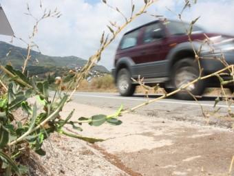 El punt de l'accident a la C-59 a l'alçada de Caldes de Montbui on aquest matí han col·lidit frontalment els dos vehicles