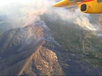 Imatge aèria del foc d'Artà, a Mallorca ACN